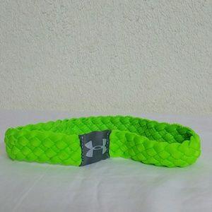Green under armour headband